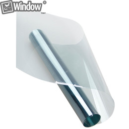 Wholesale Lighted Window Sticker - 1.52x20m Car Window Tinting Light Blue Window Tint 75% VLT Solar Film Roll Privacy Sticker for Car Glass Home House Office
