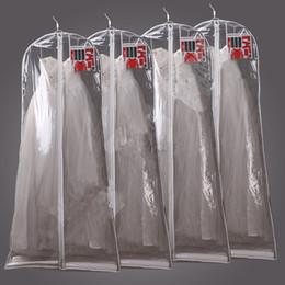 Deckbekleidung transparent online-180 cm Transparent Hochzeitskleid Staubschutz Omniseal Extra Große Wasserdichte PVC Solide Hochzeitskleid Aufbewahrungstasche T2I140