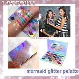 Wholesale Mermaid Mix - Newest Women Beauty Cleof Cosmetics The Mermaid Glitter Palette Eye Makeup Eyeshadow Palette vs glamierre mermaid glitter 660248-1