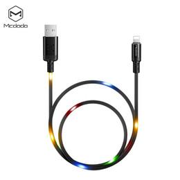 Canada MCDODO X sereis Smart LED éclairage données de musique câble pour iPhone Apple câble de charge rapide téléphone portable chargeur cordon câble de données USB Offre
