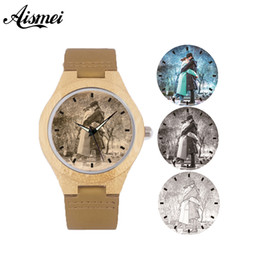 Наручные часы магазин онлайн-Custom Personal photo Wood Watch Unique DIY Customized Logo Leather band Men women Quartz Wooden watches Birthday Lovers Gift