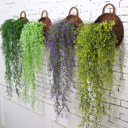 Wholesale Vine Lights - Artificial Ivy Leaf Artificial Plants Green Garland Plants Vine Fake Foliage Home Christmas Wedding Decoration c408