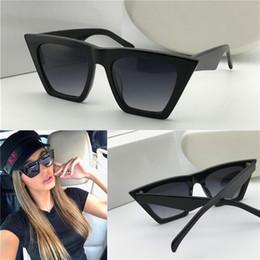 2019 gafas de sol de ojo de gato pequeño Nueva moda al por mayor gafas de sol de diseño 41468 marco pequeño ojo de gato simple estilo generoso uv400 gafas de protección de calidad superior gafas de sol de ojo de gato pequeño baratos