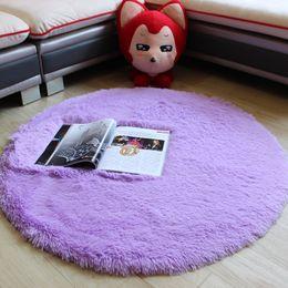 Tamaños de alfombras de la sala online-Artículos para el hogar 3 Tamaño grande felpa larga Shaggy alfombra redonda suave alfombra antideslizante Alfombra de yoga para sala de estar del dormitorio Sala de estar