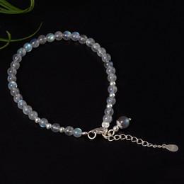 Joyas de piedra lunar de china online-joyería de plata esterlina mano pura S925 cadena de mano de plata pura temperamento simple natural Moonstone pulsera accesorios venta al por mayor de porcelana