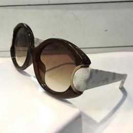 Abrigo de serpiente online-Gafas de sol de lujo 811 para las mujeres Piernas de cuero de serpiente del diseñador Protección UV simple que cubre la lente Marco oval clásico de calidad superior con el paquete