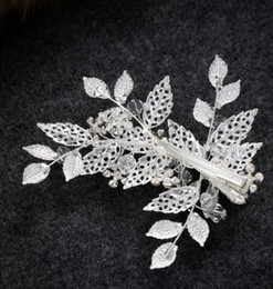 fascinadores lindos Desconto Nova Chegada Melhor Bela Folha Forma Fascinators De Cristal Do Vintage Espumante Fontes Do Casamento Headpieces Handmade Acessórios De Noiva