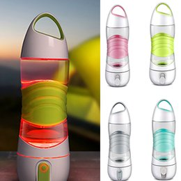 Wholesale Plastic Drink Mugs - LED Light Smart Water Bottle Tracks Water Intake Glows to Remind You to Stay Night lights Sos Emergency Sport Mug Cup Kettle XL-456