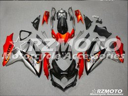 Wholesale gsxr fairing red black silver - 3 gifts Fairing For SUZUKI GSXR600 GSXR750 08 09 10 GSXR 600 750 GSX R600 R750 K8 07 08 2007 2008 GSXR-600 Fairing Kit Black Red Silver D4