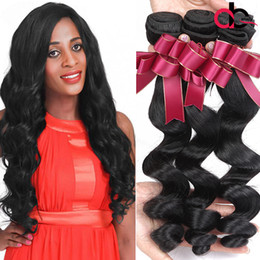 Wholesale Top Quality Remy Brazilian Hair - Malaysian Loose Wave 4 Bundles Remy Human Hair Weaves 3 Bundles Unprocessed Wefts Top Quality Malaysian Loose Wave Virgin Hair Bundles