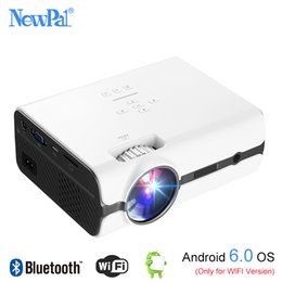 Wholesale projector pro - Newpal UC45 Pro LED Projector 1080P Mini Proyector Home Cinema Support DLNA,SD Card,HDMI,VGA With Android 6.0 BT WIFI TV Tuner
