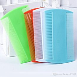 Wholesale lice comb wholesalers - 4 Pcs Double Sided Nit Comb Fine Tooth Head Lice Hair Combs for Kids Pet Flea