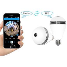 DL20180005 ZYSIPC23-1 Wifi Bulb Light Camera con telecamera Wi-fi FishEye 360 gradi Mini CCTV VR da