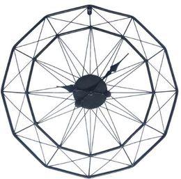 relógios de flores de acrílico Desconto Homingdeco 60 cm Grande Relógio de Parede Design Moderno Relógios Para Decoração de Casa Arte De Ferro Retro Estilo Europeu Pendurado Relógio de Parede Relógios