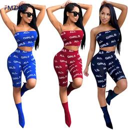 bfa8833b4afe Fitness Sets 2018 Summer Women ALL GIRLS Letter Print Blue Grid Crop Top  Bodycon Short Sets Elastic Waist 2 Two Pieces Sets Suit