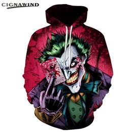 Camisola de pólo on-line-Casual engraçado Joker Poker hoodies Moda Anime Camisola 3D Impresso moletom com capuz hip hop das mulheres dos homens tops Unisex Harajuku Camisolas