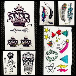 1PC Sexy Women Body Neck Art Water Transfer Fake Tattoo Queen Crown Letter  Jewelry Design Temporary Tattoo Decals Sticker GAQ171 crown transfer deals 8b09d1f5894b