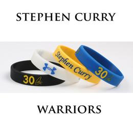 Mezcla de jugadores online-Alta calidad 4 UNIDS Mix Stephen Curry Pulseras de Silicona Guerreros Jugadores de Baloncesto NO.30 Pulsera de Silicona Joyería de Moda
