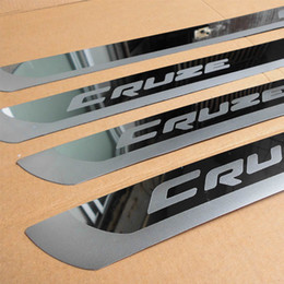 Wholesale Chevrolet Cruze Door - wholesale Stainless Steel Slim Door Scuff Sill Plates Cover stickers car stying FOR 2010 2012 2013 2014 Chevrolet cruze Sedan hatchback