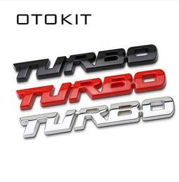 Turbos ford online-3D Car Styling Sticker Metal TURBO Emblema Cuerpo Trasera Puerta trasera Placa para Ford Focus 2 3 ST RS Fiesta Mondeo Tuga Ecosport Fusión