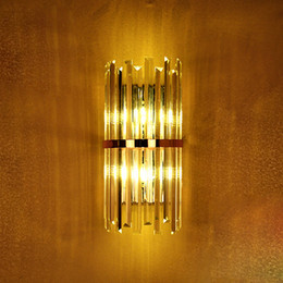 Wholesale Mirror Wall Light Crystal - Modern LED K9 Crystal Wall Lamp sconce for hallway living room Luxury Villa Hotel Bedroom Bedside Lamp home Mirror LED wall fixtures lights