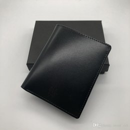 Wholesale designer business suits - 2018 luxury men's fashion leather wallet MB short clip brand designer card package MT business card holder high quality M B suit wallet