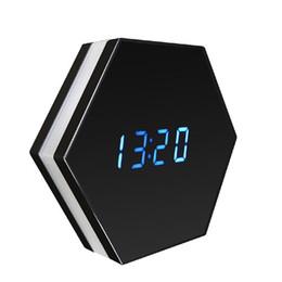 Caméra miroir wifi en Ligne-1080p WIFI vision nocturne sans fil couleur miroir horloge enregistreur vidéo caméra de sécurité horloge sans fil