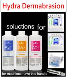 Soluções de peles on-line-VENDA IMPERDÍVEL !!! Solução da casca do Aqua 3 garrafas / 400ml pelo soro facial do Hydra Dermabrasion do soro da garrafa do Aqua para a pele normal