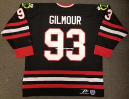 fa09bd5dc Wholesale Custom Doug Gilmour Vintage Chicago Blackhawks Pro Player Cheap  Hockey Jersey Black Mens Retro Jerseys