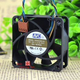 Wholesale 12v Server Fans - Free Shipping AVC DS06025B12U P011 60mm 6cm DC 12V 0.70A Pwm server inverter cooling fan