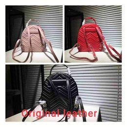 Yüksekliği kaliteli Marmont Sırt Çantası Tasarımcı Sırt Çantası Lüks Çanta Ünlü Markaların çanta Gerçek Orijinal Dana Deri Lüks Sırt Çantası nereden orijinal markalı çanta tedarikçiler