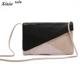 Wholesale mix color handbag shoulder bag - Xiniu handbag Women Messenger Bags Envelope Slim Shoulder Bag Mixed Color Crossbody Bag Clutch Bags Bolsos Mujer drop shipping#0