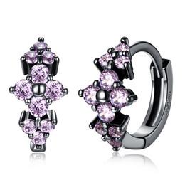 Caliente Oferta especial Joyería de moda Exquisito Pendientes incrustados de dama Simple romántico de Cristales desde fabricantes