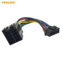 Cableado del conector iso online-Adaptador de mazo de cables de radio estéreo para auto de FEELDO para el conector de 16 pines de Sony en la radio al conector ISO 10487 en el auto número 5675