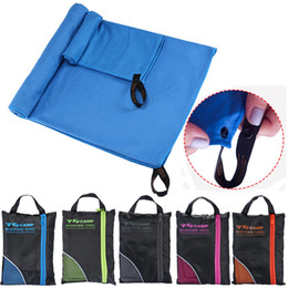 Wholesale quick drying microfiber towels - Microfiber Soft Quick Dry Towel With Bag For Gym Swimming Yoga Travel Sports Beach Towels Supplies NNA112
