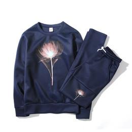 Wholesale floral hoodie men - Mens Sportswear Hoodies Men Sweatshirts Sets Flroal Printed Mens Outwear Tracksuits Jackets with Joggers Pants