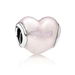 WinTion PAN 100% S925 Sterling Silber neue Armband Perlen, Glamour Original Perle Pulver herzförmigen Halskette Anhänger von Fabrikanten