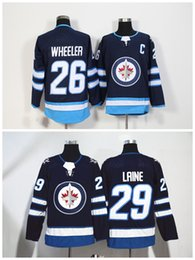 Wholesale new jersey jets - Winnipeg Jets Jersey 26 Blake Wheeler 29 Patrik Laine 2018 NEW Material Ice Hockey Winter Classic Stadium Series Breakaway Home Away White G