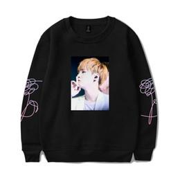Wholesale Red Stay - BTS K-pop BTS Sweatshirt Women Love Yourself Stay Picture J-HOPE Capless Sweatshirt Hip Hop Female Fans Idol Closthes 4XL