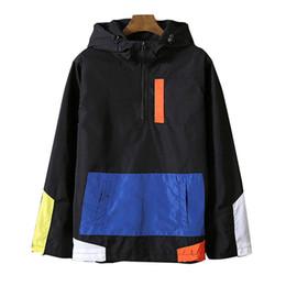 Wholesale Large Mens Coats Jacket - Men's JacketMen 2018 Spring flower Hooded Jacket Windbreaker Mens Bomber Jackets Coats Large Size outwear Dropshipping Suppliers