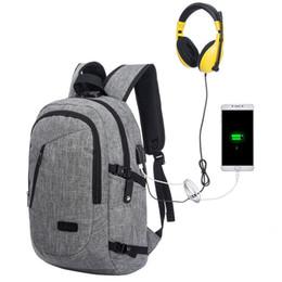 2019 11 computer portatili Borsa per computer resistente all'acqua Anti Theft Slim Laptop Backpack con porta di ricarica USB Zaini da viaggio universitari leggeri Fit 15.6