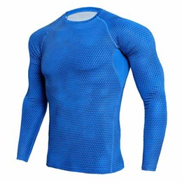 Argentina 3XL Blue Sport Shirt Men Compression Shirt Men Rashgard Camisetas de fútbol Runing T Fitness Top Bodybuilding GYM MMA cheap runing men Suministro