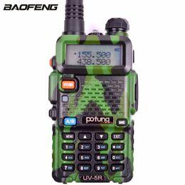 Radio de camouflage en Ligne-BaoFeng UV-5R Camouflage Vert Talkie Walkie 128CH 5W Émetteur Émetteur de Puissance Double Bande Double Affichage Radio Bidirectionnelle