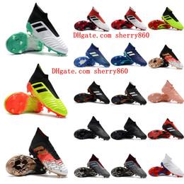 Botas messi baratas online-2018 nueva llegada para hombre botines de fútbol Predator acelerador 18 zapatos de fútbol Predator 18+ FG botas de fútbol chuteiras de futebol messi barato