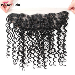 Wholesale 12 X 16 - 10A 13 X 4 Brazilian Deep Wave Lace Frontal with Baby Hair Overnight Shipping Malaysian Peruvian Indian Virgin Human Hair Lace Frontal