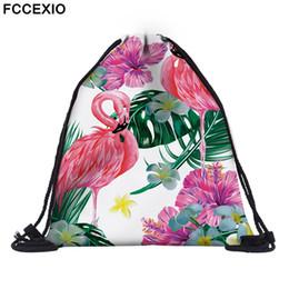 FCCEXIO 18 Renkler Yeni Moda Pembe Flamingo Sırt Çantası 3D Baskılı Seyahat Yumuşak geri İpli Çanta Okul Feminina Kızlar Sırt Çantaları cheap 18 school girl nereden 18 okul kız tedarikçiler