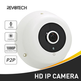 Wholesale Ip Camera Array - Audio Fisheye FHD 1920 x 1080P 2.0MP 3 Array LED Night Vision Panoramic IP Camera Security ONVIF P2P IP CCTV Cam System