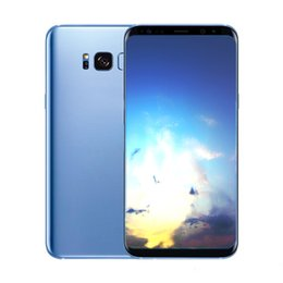 Wholesale Gravity Blue - Goophone 9 S8 plus VS9+ unlocked phone 1G ram 4G rom 6.2 inch full Screen Show 64GB Octa Core fake 4g lte Android Smartphone New Product