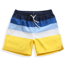 Swim Shorts Men Short Pants Beach Seaside Quick Dry Sexy Swimwear Hombres Summer Striped Swimming Trunks Sport Swimsuit Plus Size desde fabricantes