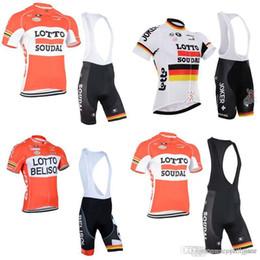2019 zyklus gegenstände LOTTO team Cycling Kurze Ärmel Trikot (Lätzchen) shorts sets Radtrikot Aktionsartikel Gute Qualität, niedriger Preis c2425 günstig zyklus gegenstände